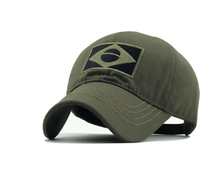 Brazil Logo Cap Embroidered Casual Baseball Hat Thin Cotton Grey Sale Now