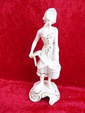 schöne ,alte Porzellanfigur__Mädchen mit Hocker und Eimer__Goebel__Bochmann_!