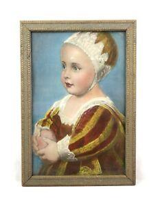 """Antique Art Nouveau Ornate Gold Painted Gesso Picture Frame Fits 12"""" x 8"""""""