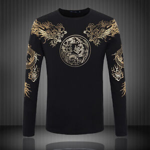 Dragon-shirt-breathable-long-sleeve-dragon-clothes-shirt-black-for-men