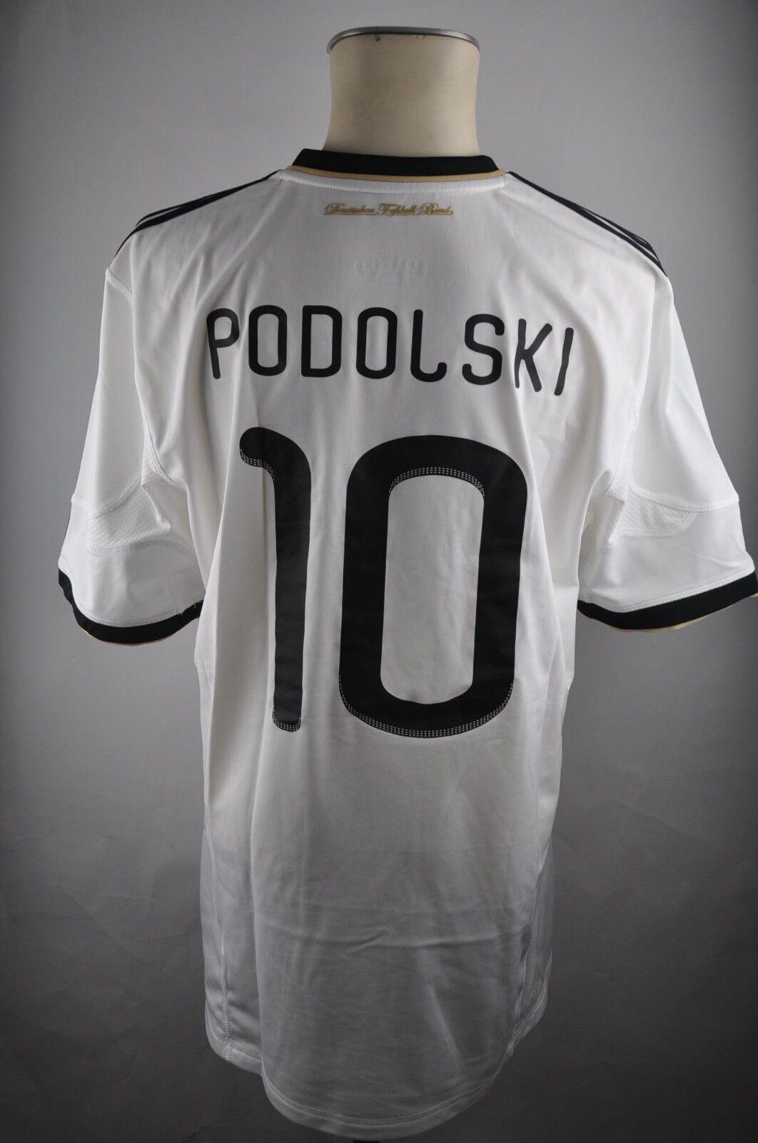 Germany DFB  10 Podolski Home Jersey Größe XL Adidas 2010 World Cup Shirt Germany