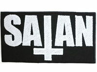 SATAN 666 Devil Inverted Cross Embroidered Sew Iron On Shirt Jacket Badge Patch