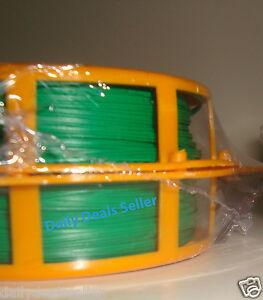 2x 246 Ft (environ 74.98 M) Roll Plante Jardin Twist Tie Fil Métallique Enduit & Cutter Plant Support-afficher Le Titre D'origine Une Grande VariéTé De Marchandises