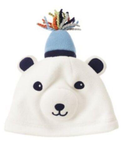 GYMBOREE SNOW BEAR POLAR FLEECE BEAR HAT 0 3 6 12 18 24 NWT