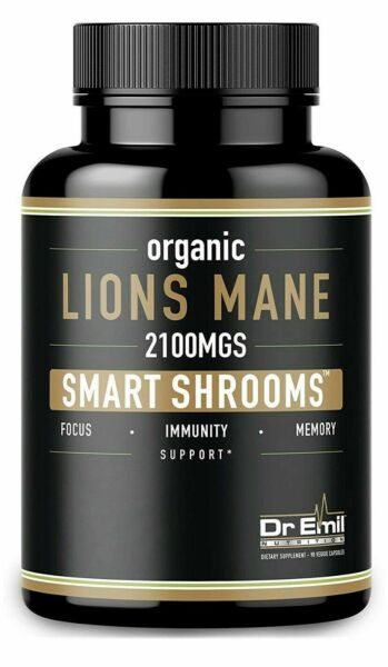 DR EMIL NUTRITION Organic Lions Mane 2100mg Smart Shrooms