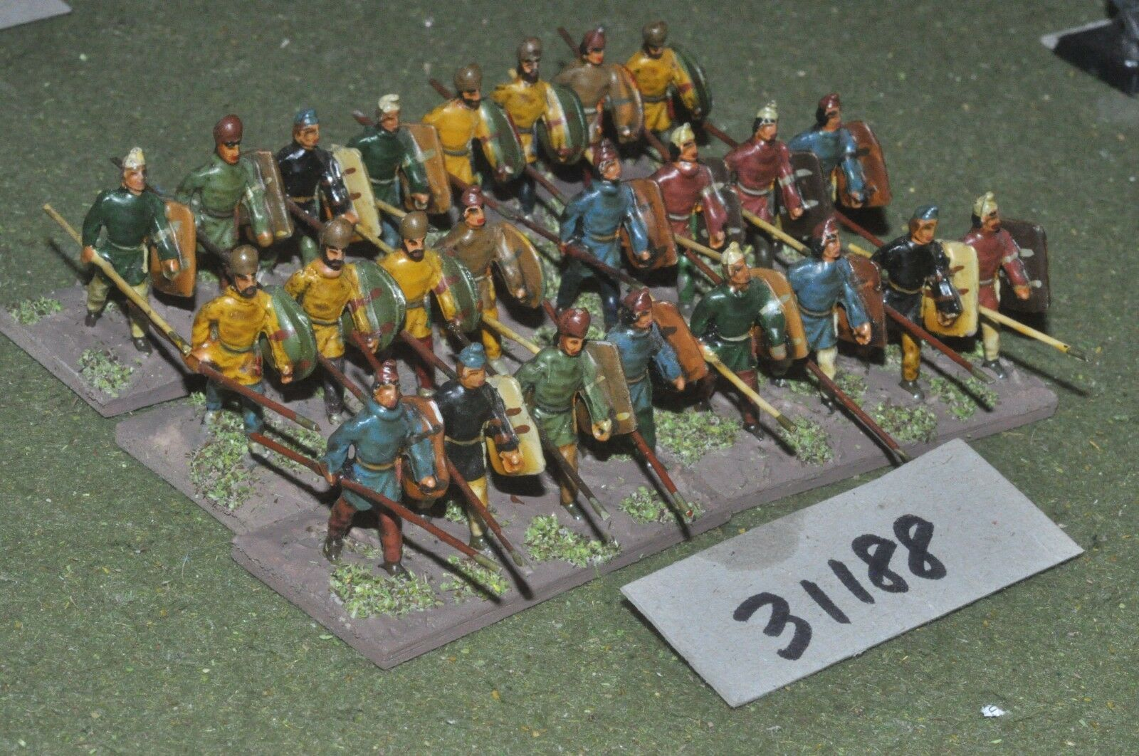 25mm classical   persian - spearmen 24 figures - inf (31188)