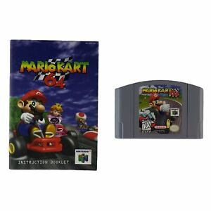 Mario Kart 64 (Nintendo 64, 1997) w/Manual Authentic Tested Works