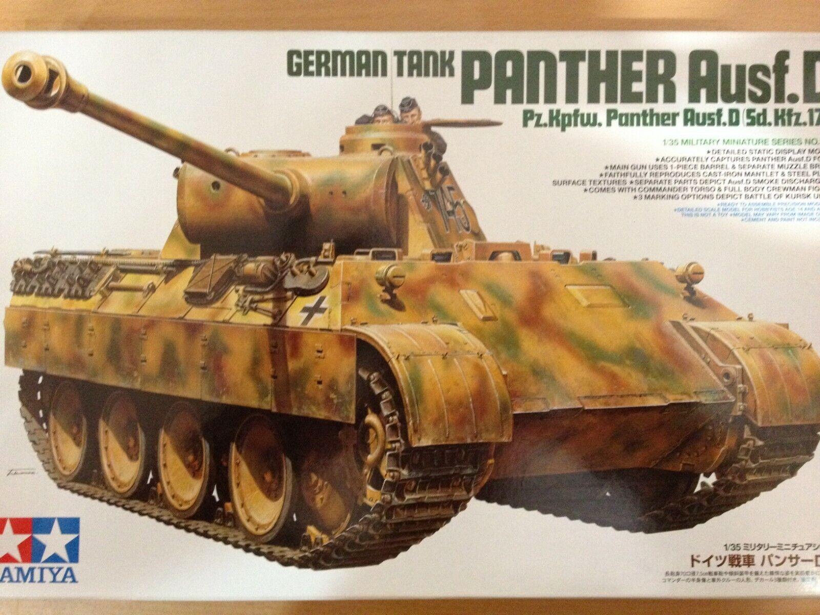 buena calidad Tamiya Maqueta,escala 1 35,german  PANTHER Ausf.D Tank,ref.35345 Tank,ref.35345 Tank,ref.35345  grandes precios de descuento