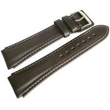 22mm Di-Modell Pilot Long Brown Waterproof Leather German-Made Watch Band Strap