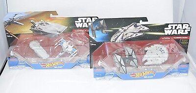 Falcon /& Transporter X-Wing Star Wars Hot Wheels Die-Cast 2-Pack Bundle Tie