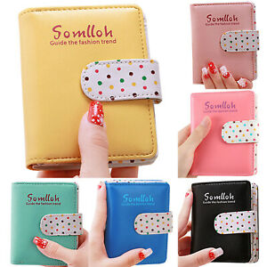 Girls Women Small Mini PU Leather Wallet Card Holder Coin Purse Clutch Handbag
