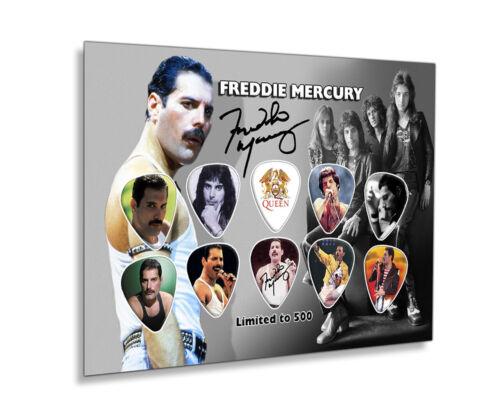 Freddie Mercury 500 Unframed Guitar Pick Display