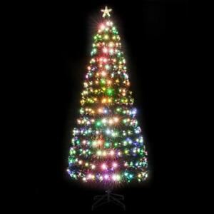 Details About 7 5ftartificial Fiber Optic Christmas Tree With 260 Led Stars Xmas Home Decor