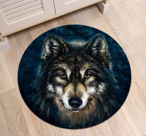Mandala Lotus Lion Round Rug Room Floor Anti-Skid Carpet Kids Play//Yoga Bath Mat