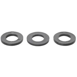 Nylon Gasket 600pcs Flat Washer Assortment M2 M2.5 M3 M4 M5 M6 M8 M10 M12 Black Round Spacer Washers for Mechanical