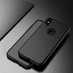 iPhone-X-XS-pc-hard-back-case-Schwarz