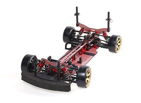 ロードドリフトカー4 WDフルカラー炭素繊維RZ 4ローリングシャーシでブレーズDFR 1 / 10