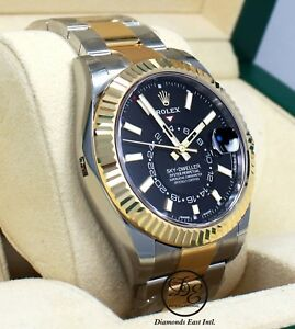 Details about Rolex Sky,Dweller 326933 2,Tone 18K Yellow Gold /SS Oyster  Watch B/P *BRAND NEW*