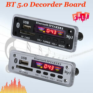 Detalles De Decodificador De Coche Inalámbrico Bluetooth 5 0 Placa Módulo De Audio Radio Fm Reproductor De Mp3 S D Tf Ver Título Original