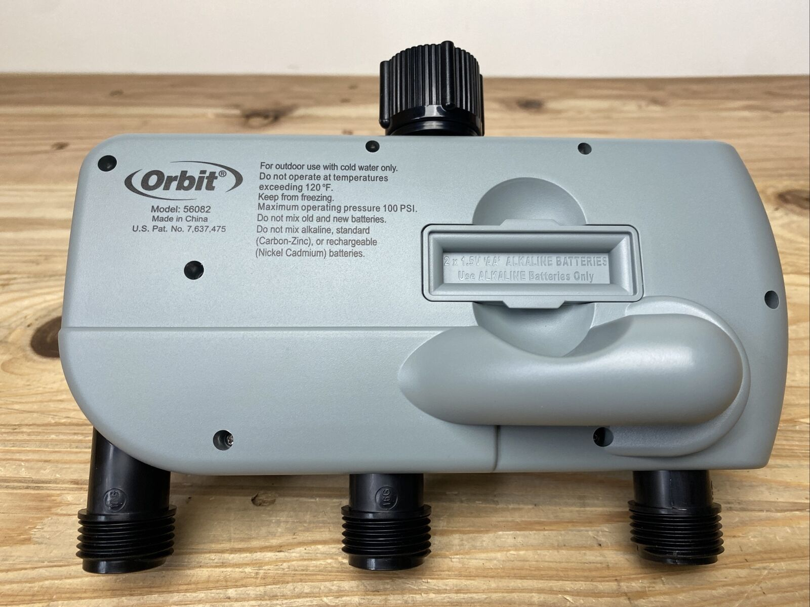 Orbit 56082 3-Outlet Programmable Hose Faucet Timer with rain delay