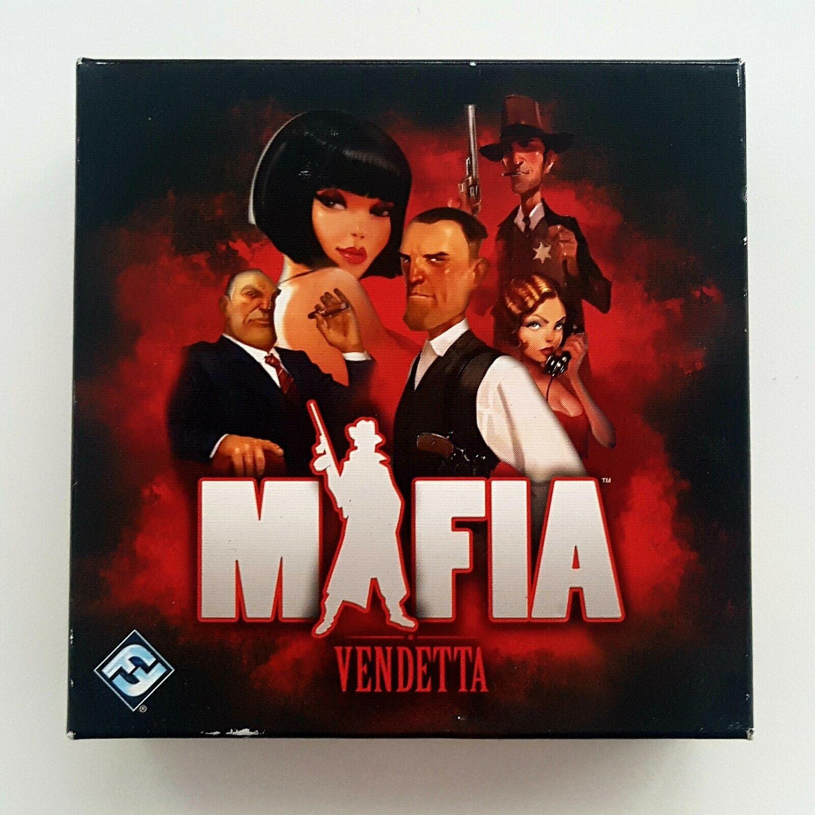 Mafia Vendetta Card Board Game Family Party Role Used VGC by Fantasy Flight Game