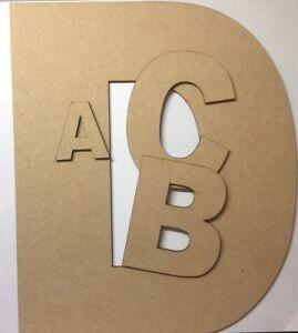 En Bois Suspendu Mdf Laser Cut Alphabet Arial Lettres & Chiffres, 9 Mm D'épaisseur Craft-afficher Le Titre D'origine