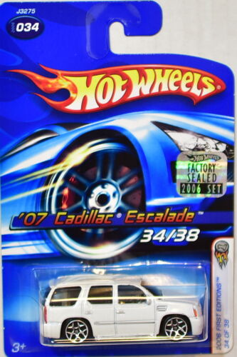 Hot Wheels 2006 Erste Editionen /'07 Cadillac Escalade #034 Weiß