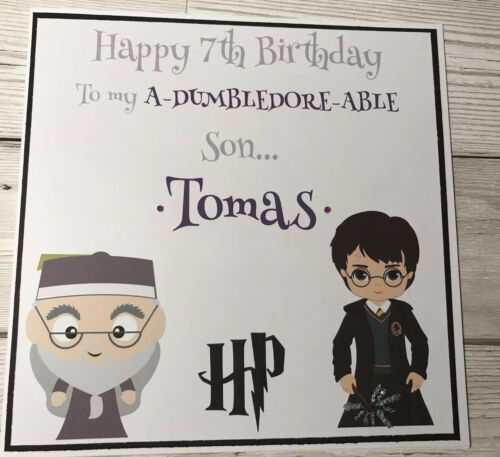 XL Personalised Harry Potter Birthday Card Son Daughter Grandson Nephew