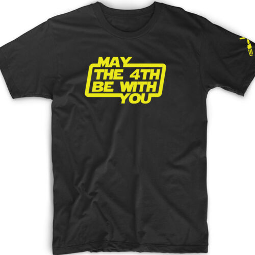 May The 4th Be With You Tee T Shirt Gift Star Day Sci Fi Science Geek Force Nerd