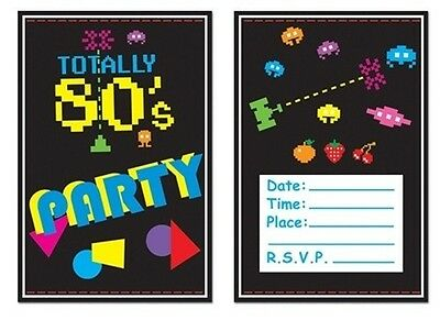 Totally 80'S PARTY INVITATIONS 80's Party ATARI Space Invaders