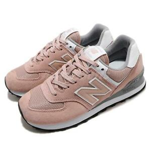 new balance 574 pink white grey women running casual shoes