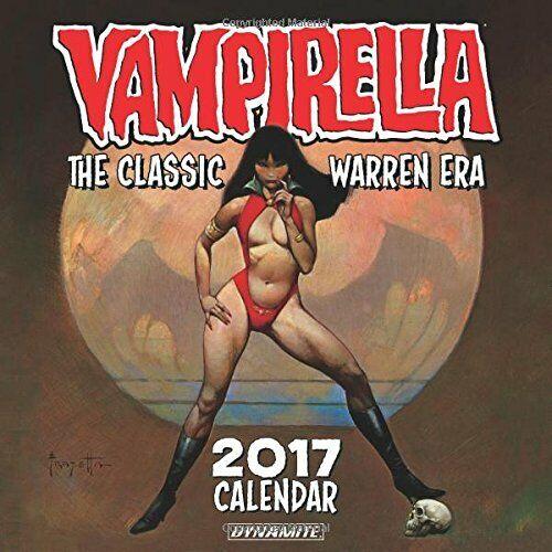 Classic Warren Era 2017 Wall Calendar Frank Frazetta Vampirella