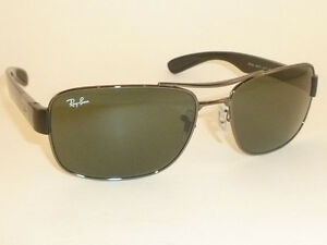 8941777049 New RAY BAN Sunglasses Gunmetal Frame RB 3522 004 71 Green Lenses ...