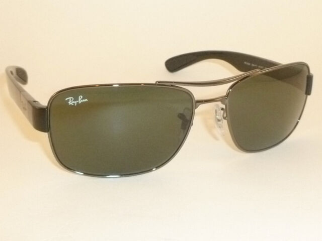 0a246a388c9 New RAY BAN Sunglasses Gunmetal Frame RB 3522 004 71 Green Lenses 61mm