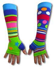 United Oddsocks Long Arm Warmer Sleeves Bright Patterned Odd Fingerless Gloves