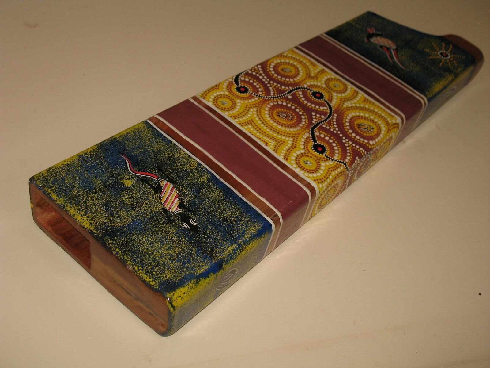 Mit Aesthetic Fault Verpackung Didgeridoo Dot-Painted Mahagoniholz Reise Kompakt