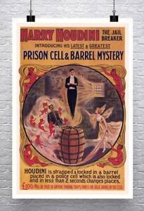 Harry-Houdini-Jail-Breaker-Vintage-Poster-Rolled-Canvas-Giclee-Print-24x34-in