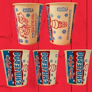 Vintage 1950s 1960s Mister Softee Lot Of 5 Chilleroo Wax Paper Cup FREE SHIPPING