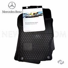 Mercedes W164 GL550 ML350 Front Rear All Season Black Rubber Floor Mat Set of 4