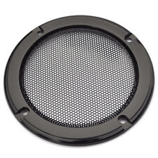 "2pcs 4"" Inch Black Car Speaker Grill Cover Decorative Circle Metal Mesh Grille"