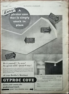 Gyproc Cove A Plaster Cove That Is Simply Stuck In Place Vintage Advert 1957