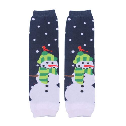 Baby Toddler Christmas Santa Snowman Arm Leg Warmers Cotton Cute Socks Tights