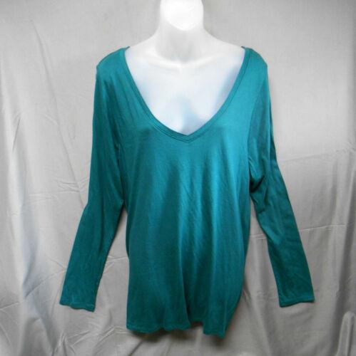 NWOT Lane Bryant green V neck long sleeve top women's plus size 18//20