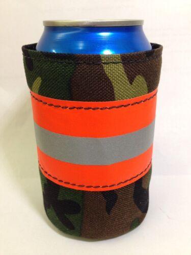 Camo Firefighter Bunker Gear Style Beer COOLER COOZIE COOLIE KOOZIE