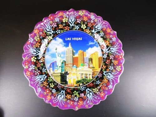Las Vegas Nevada New York Hotel Souvenir Teller Plate 25 cm,Keramikteller,(1)