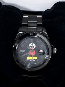 Number (n) INE × джем домашний Микки Маус типа-наручные часы, черный бриллиант с коробкой