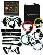 Resistance Bands Set - 17 Pieces Set Of Long And Short Exercise Tubes With Door