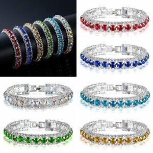 Fashion-Women-Filled-Crystal-Cubic-Zircon-Shiny-Bracelets-Bangle-Jewelry-Gift