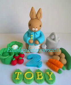 Peter-rabbit-style-handmade-edible-cake-topper-birthday-christening