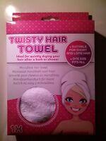Microfaser Handtuch Für Haare Mit Knopf - Blogger - Hype - Weiß